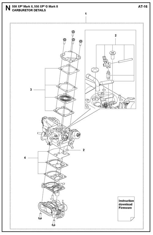 545II-550XP(G)II   [550XPGII] VERGASERTEILE
